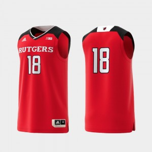 Basketball Swingman #18 Rutgers Jersey College Replica Scarlet Men 284044-409