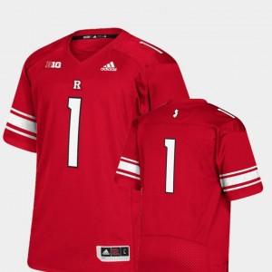 Premier Rutgers Jersey Scarlet #1 College Football Men's 772732-867