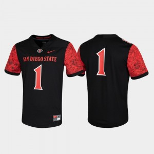 Black Untouchable San Diego State Jersey For Men Game #1 282896-757