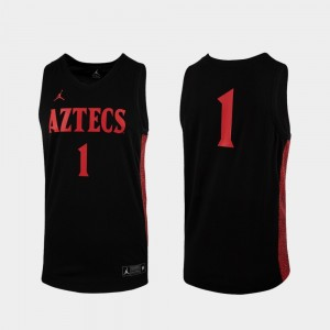 Black College Basketball #1 Replica Mens San Diego State Jersey 659260-182