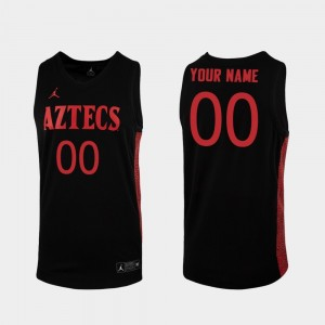 #00 Replica For Men Black College Basketball San Diego State Customized Jersey 945528-351