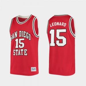 Alumni Red Kawhi Leonard San Diego State Jersey College Basketball #15 Mens 436811-863