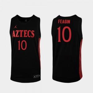 #10 2019-20 College Basketball Black KJ Feagin San Diego State Jersey Men Replica 145336-981
