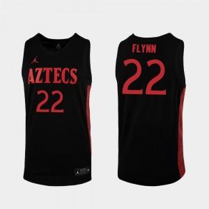 Black Malachi Flynn San Diego State Jersey For Men Replica 2019-20 College Basketball #22 491844-368
