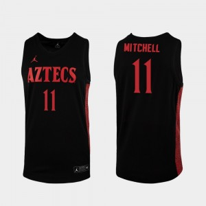 2019-20 College Basketball Replica Black #11 Matt Mitchell San Diego State Jersey Men's 493228-565