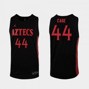 For Men Replica Michael Cage San Diego State Jersey Black 2019-20 College Basketball #44 786812-915