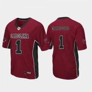 #1 Football South Carolina Jersey Garnet Max Power Men 489399-270
