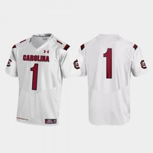 White Men South Carolina Jersey Replica #1 College Football 636806-405