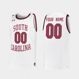 Replica South Carolina Custom Jersey White For Men #00 2019-20 College Basketball 145673-187