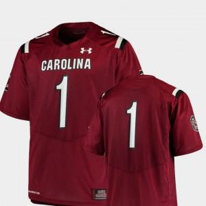 Team Replica Garnet Mens South Carolina Jersey College Football #1 696951-396