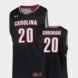 Black Tommy Corchiani South Carolina Jersey College Basketball Replica For Men #20 533857-405
