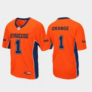 Max Power Football #1 Orange Syracuse Jersey Mens 989480-317