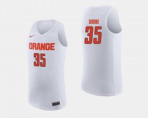 For Men #35 White College Basketball Bourama Sidibe Syracuse Jersey 577925-324