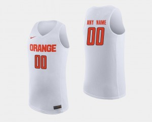 Mens College Basketball White Syracuse Custom Jerseys #00 861681-935