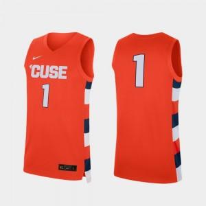 Syracuse Jersey #1 Replica Men College Basketball Orange 737505-836