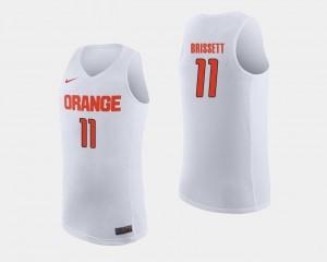 Oshae Brissett Syracuse Jersey #11 White College Basketball For Men 708136-548