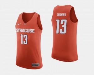 Paschal Chukwu Syracuse Jersey College Basketball Orange #13 For Men 679931-199