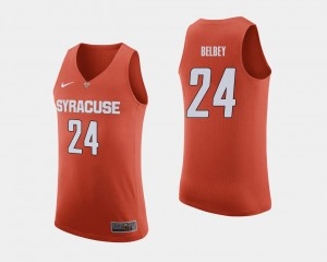 Mens #24 Shaun Belbey Syracuse Jersey Orange College Basketball 946654-822