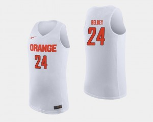 College Basketball For Men's White #24 Shaun Belbey Syracuse Jersey 236439-919