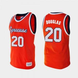College Basketball Alumni Men #20 Sherman Douglas Syracuse Jersey Orange 919105-429