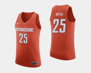 Orange College Basketball #25 Tyus Battle Syracuse Jersey Men 780484-594