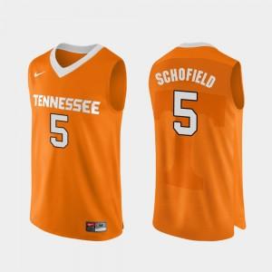 Authentic Performace Orange #5 College Basketball Men Admiral Schofield UT Jersey 880371-702