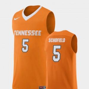 Admiral Schofield UT Jersey Orange #5 Replica For Men College Basketball 746670-775