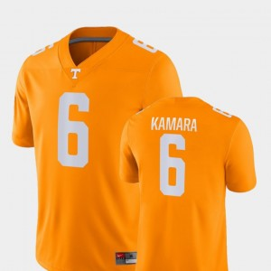 Alvin Kamara UT Jersey Men's Game #6 Orange College Football 529435-435