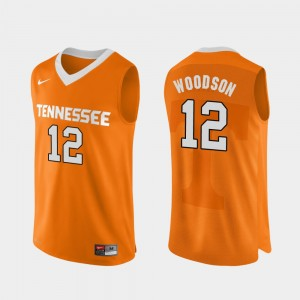 College Basketball #12 For Men Authentic Performace Orange Brad Woodson UT Jersey 782362-257