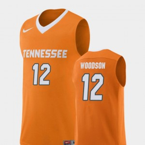 Orange Men's #12 Brad Woodson UT Jersey College Basketball Replica 632718-449