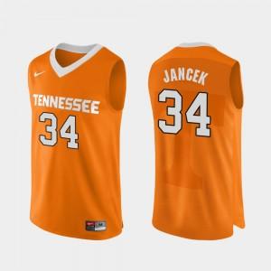 Authentic Performace For Men's #34 Orange College Basketball Brock Jancek UT Jersey 705408-777