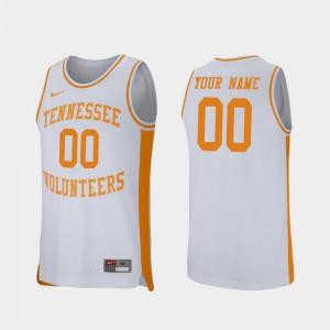 White Retro Performance Mens #00 UT Customized Jerseys College Basketball 406007-273