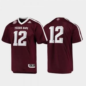 #12 Premier Men's Football Maroon Texas A&M Jersey 928013-395