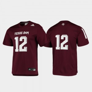 Replica Football Maroon For Men's Texas A&M Jersey #12 365179-640