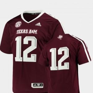 Men's Maroon Premier College Football #12 Texas A&M Jersey 601369-691