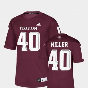 Replica Von Miller Texas A&M Jersey NFLPA Alumni Chase #40 Men's Maroon 188535-452