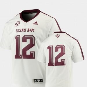 Premier White Men College Football Texas A&M Jersey #12 223840-122