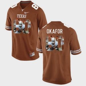 For Men Alex Okafor Texas Jersey #80 Brunt Orange Pictorial Fashion 126760-589