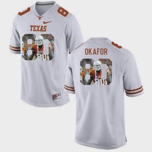 For Men Pictorial Fashion Alex Okafor Texas Jersey #80 White 845875-232