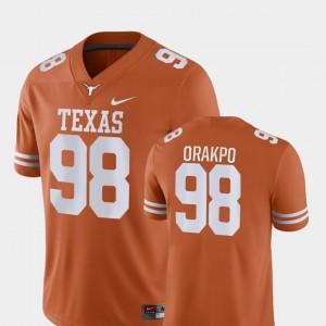 College Football Orange Brian Orakpo Texas Jersey For Men's #98 Game 356965-524