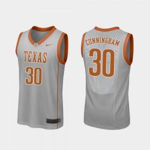 Gray Brock Cunningham Texas Jersey #30 Replica Men College Basketball 473698-841