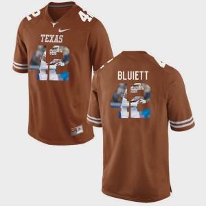Brunt Orange Men #42 Pictorial Fashion Caleb Bluiett Texas Jersey 414422-383
