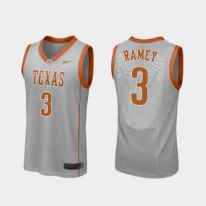 Replica Gray #3 Courtney Ramey Texas Jersey Men College Basketball 342748-518
