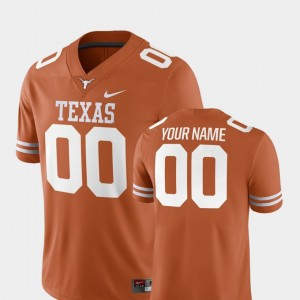 College Football For Men's 2018 Game #00 Texas Orange Texas Custom Jersey 229412-884