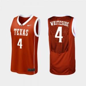For Men's Burnt Orange College Basketball Replica Drayton Whiteside Texas Jersey #4 948827-738