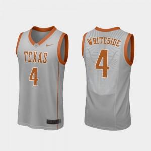 #4 Gray Drayton Whiteside Texas Jersey Men's College Basketball Replica 665260-920