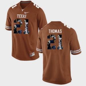 #21 Men's Pictorial Fashion Brunt Orange Duke Thomas Texas Jersey 962916-904
