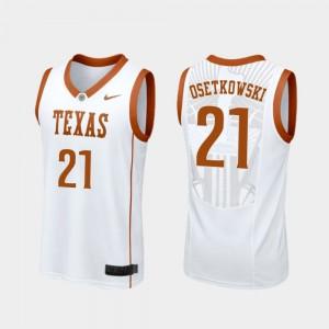Dylan Osetkowski Texas Jersey Replica White Men College Basketball #21 410587-718