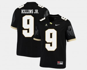 American Athletic Conference Black Men's #9 College Football Adrian Killins Jr. UCF Jersey 288807-966