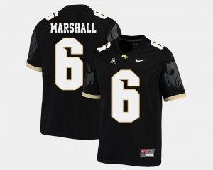 Black #6 American Athletic Conference College Football For Men Brandon Marshall UCF Jersey 790645-139